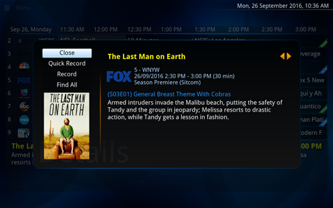 NextPVR screenshot